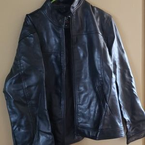 NWOT Mens jacket authentic leather